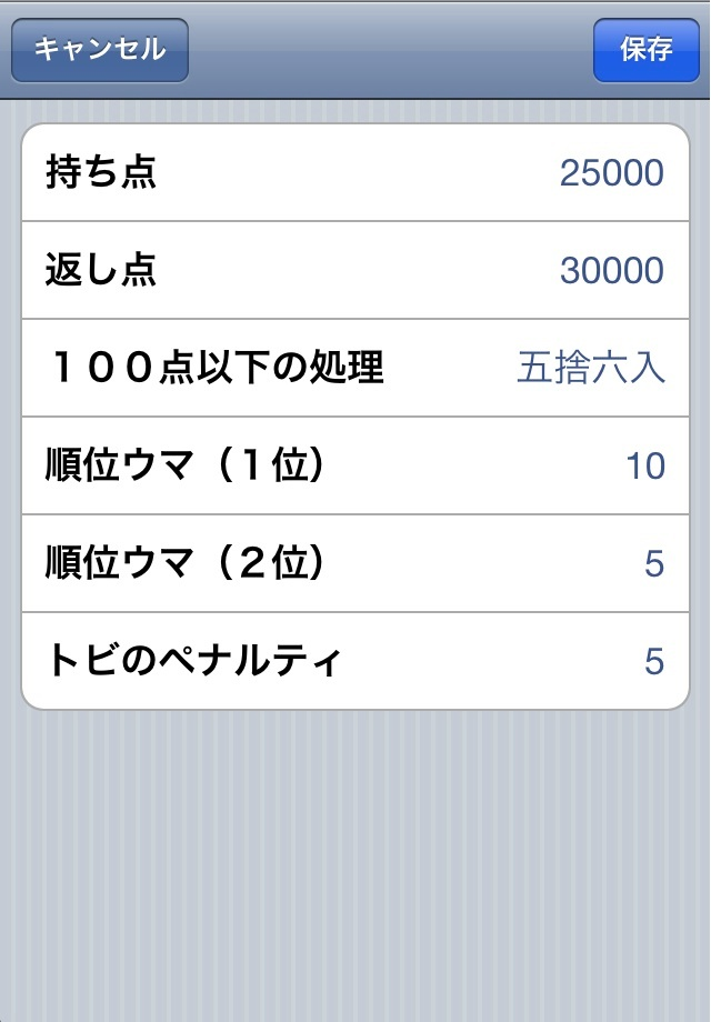 Screenshot 麻雀スコア表